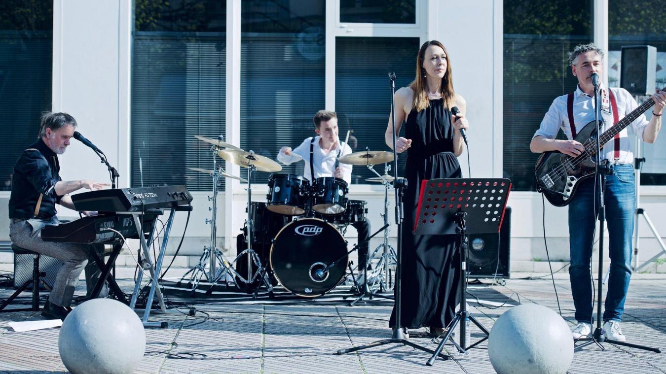 Le groupe boulonnais Lady Soul, alors en représentation dans la ville au mois d'avril dernier.