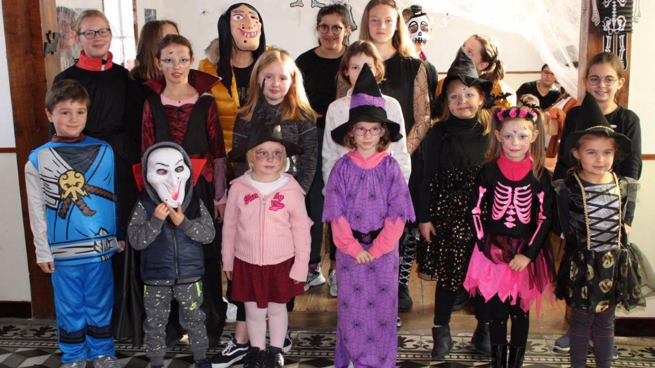 Les enfants de la commune ont fêté Halloween.