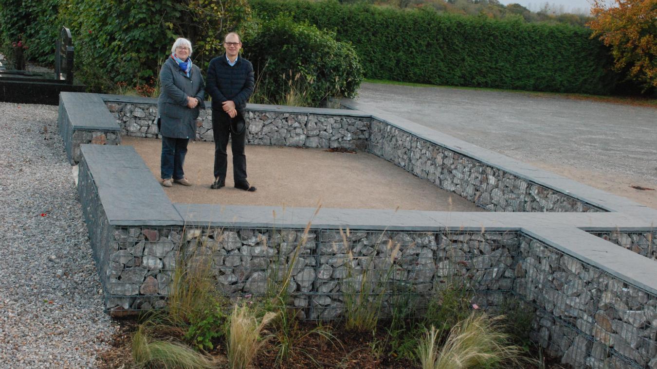 Nathalie Capon, adjointe, et Christophe Dedours, maire, ne cachent pas leur satisfaction de cette réalisation qui préserve une page du patrimoine.