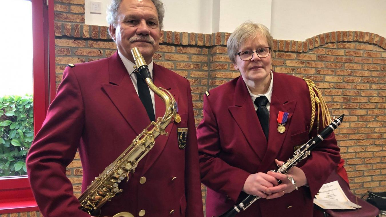 Le Doulieu : deux médaillés pour 20 et 30 ans d'harmonie