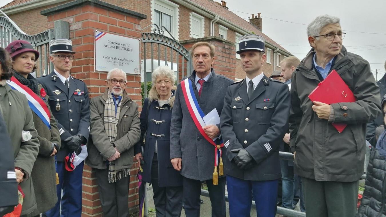 Le complexe Arnaud-Beltrame inauguré à Hazebrouck en présence de ses beaux-parents (photos et vidéo) - L'Indicateur des Flandres