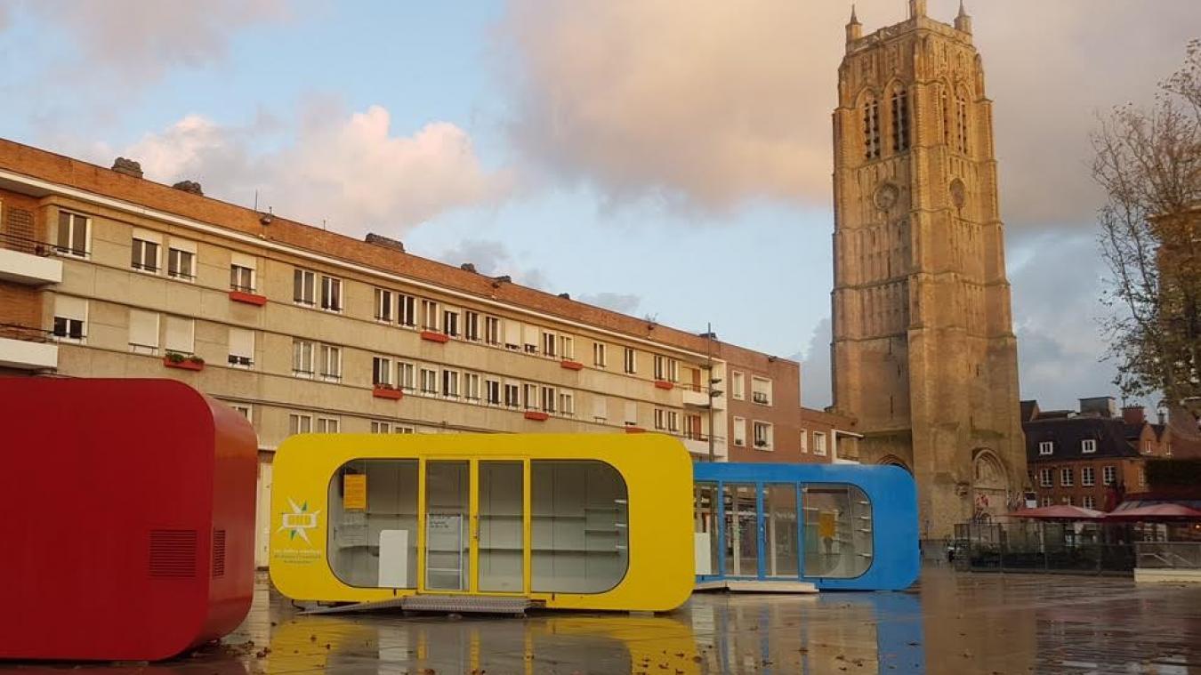 Les entrepreneurs en devenir seront présents dans les boîtes colorées, sur la place Jean-Bart, pour y conquérir de nouveaux clients.