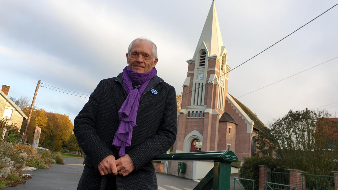 Michel Dollet s'est battu pour trouver des financements afin que l'église puisse rouvrir. C'est chose faite depuis le lundi 11 novembre.