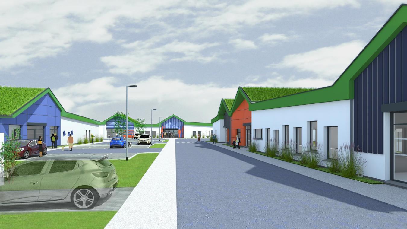 Plus de 1100 m² de bâtiments seront construits sur un terrain 5487 m². (Photo  : Architecte DPLG)