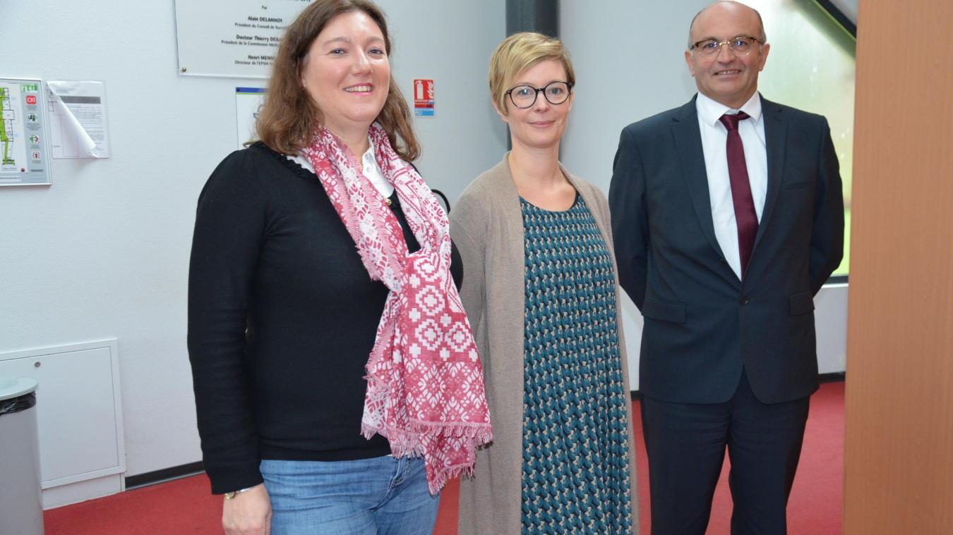 Élisabeth Delangue, Cécile Esprit et Jean Lefebvre, respectivement cadres de santé-formatrices et directeur du campus des métiers de la santé saint-venantais, font de la lutte contre les violences conjugales une priorité.