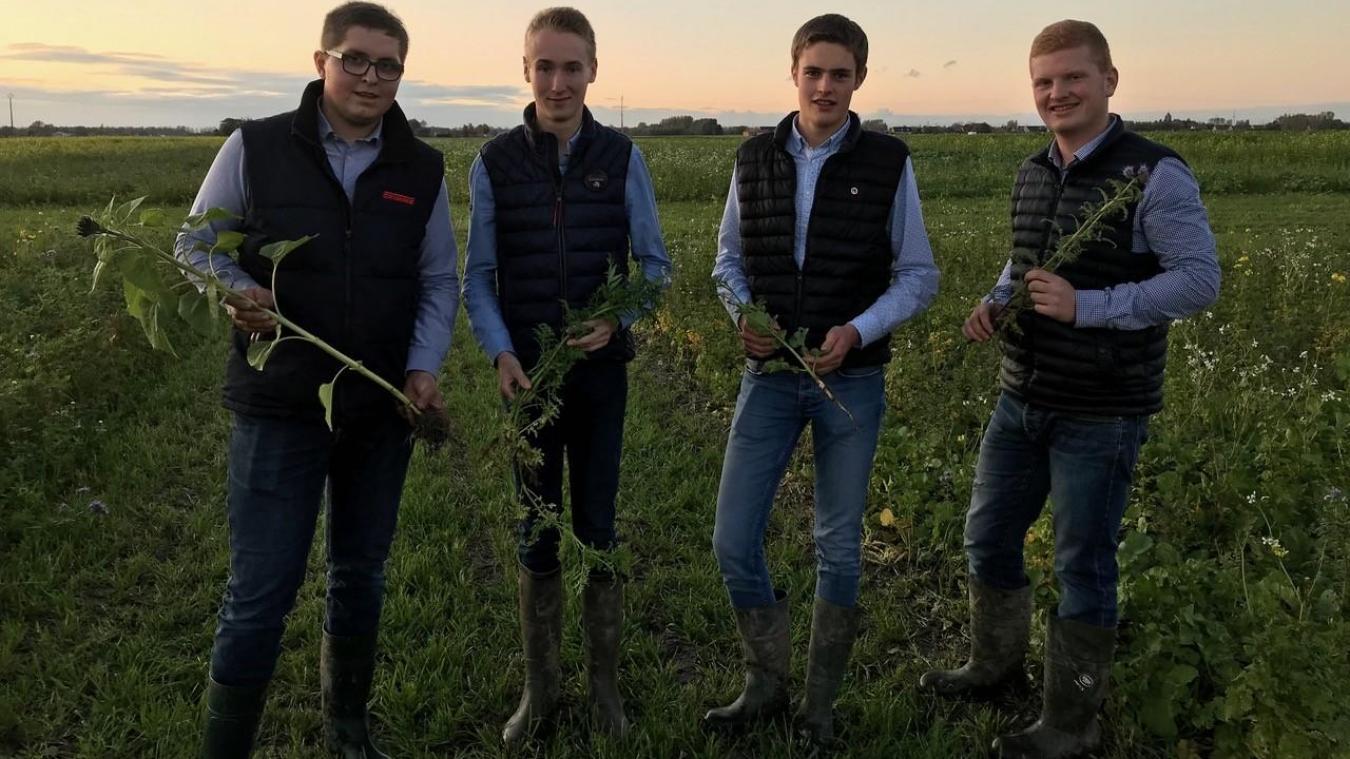 Les quatre élèves de l'institut agricole d'Hazebrouck.