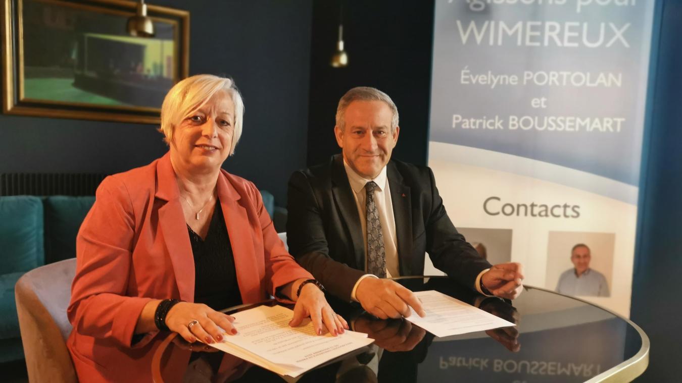 Évelyne Portolan et Patrick Boussemart ont choisi l'union pour remporter les élections de mars 2020.