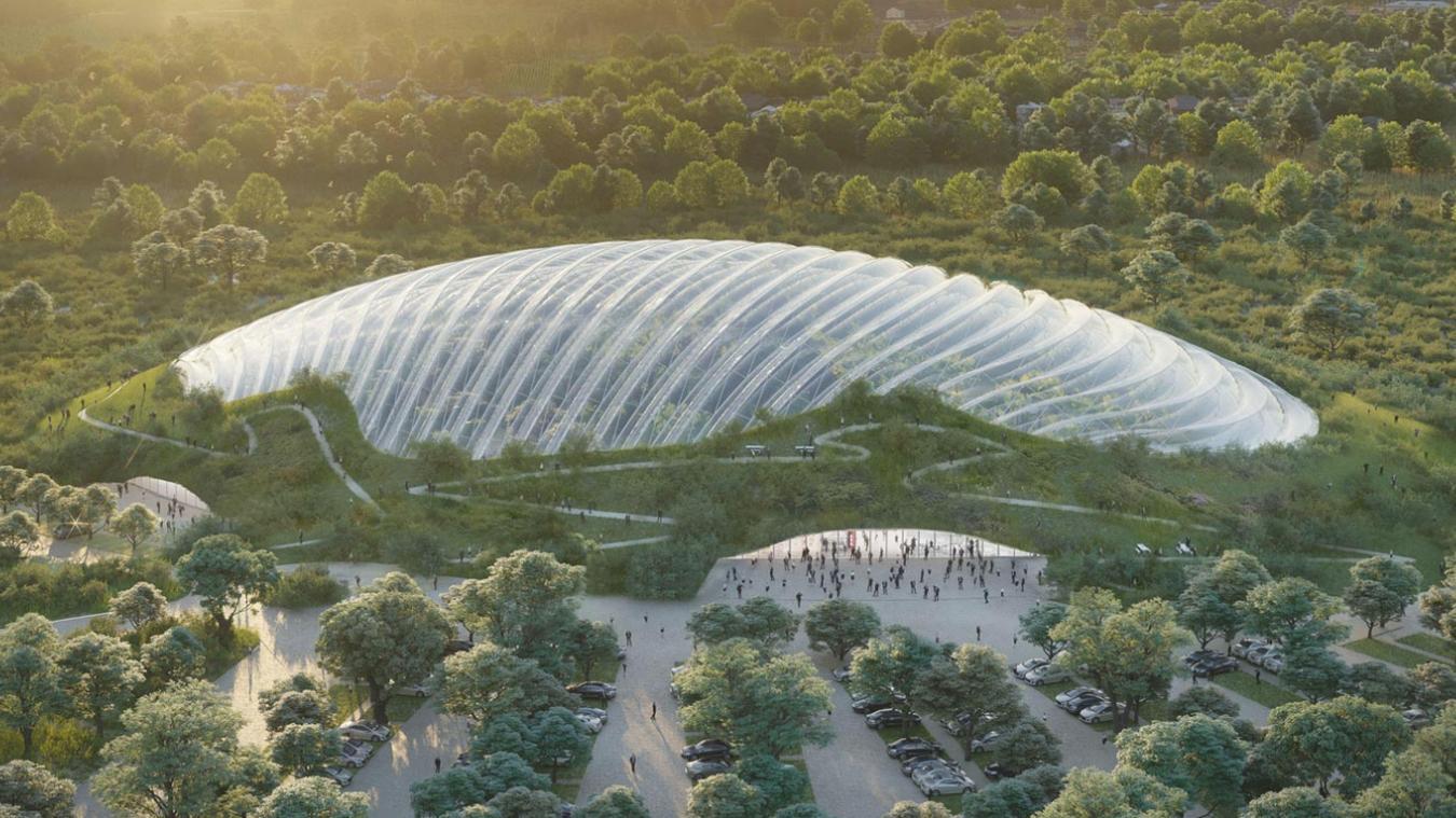 Les dirigeants de Tropicalia ont l'ambition de construire dans les prochains mois une serre tropicale de 20 000 m 2  entre Verton et Rang-du-Fliers.