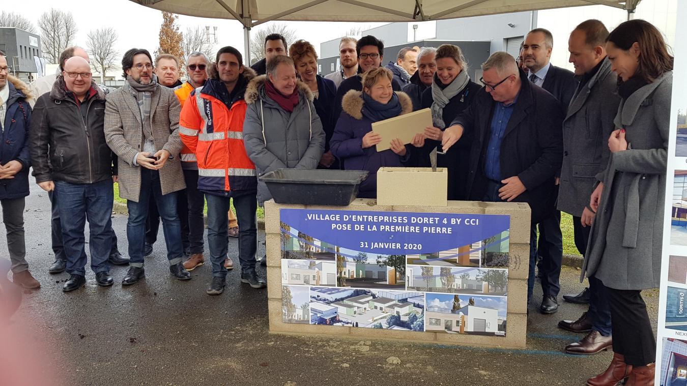 Le chantier du nouveau village d'entreprises zone Doret est lancé