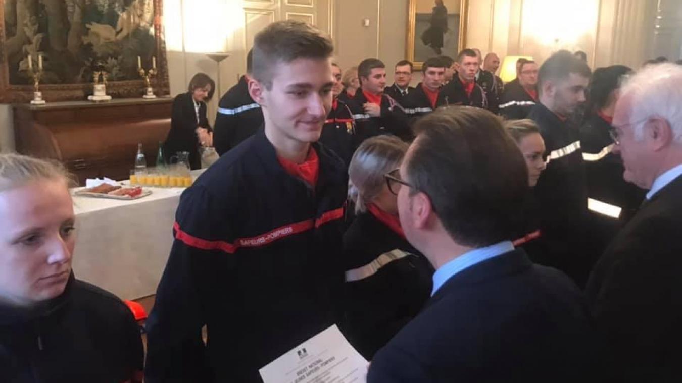 Le Boulonnais Arthur Sailly a été félicité en préfecture d'Arras.