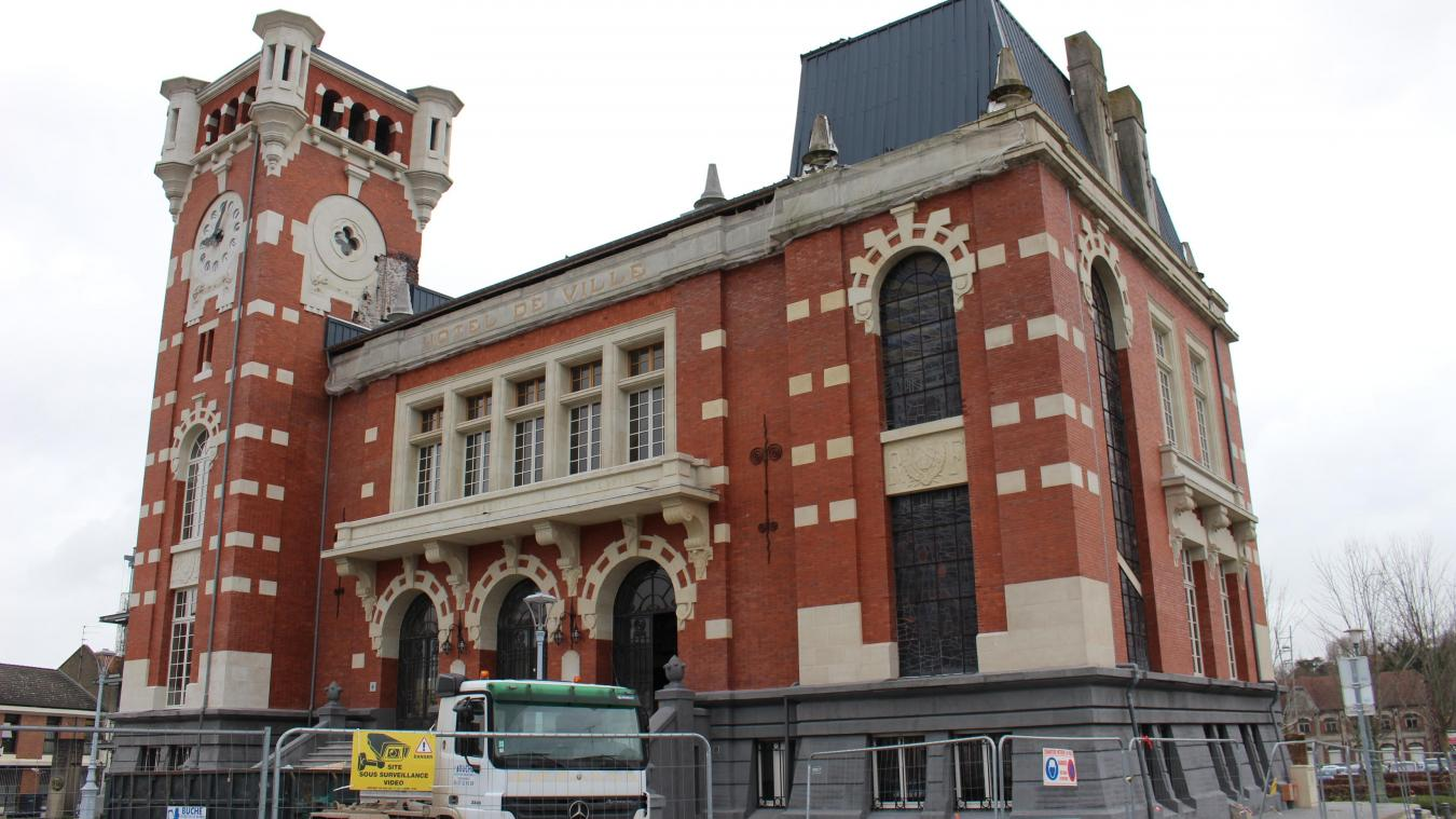 Les travaux de l'Hôtel de Ville étaient l'un des gros chantiers de ces dernières années. Ils sont toujours en cours.