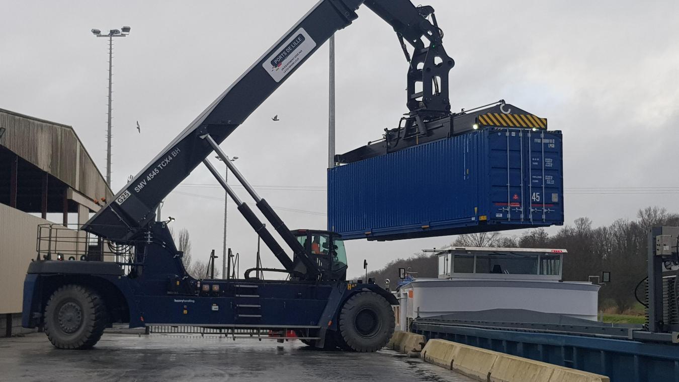 Le port fluvial de Béthune s'impose en force