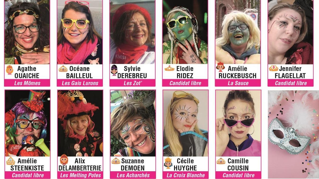 Qui sera la première princesse du carnaval de Bailleul ? A vous de voter !