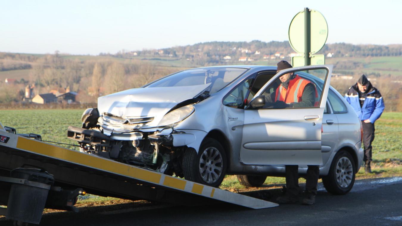 L'accident s'est produit sur la D901 ce vendredi matin.