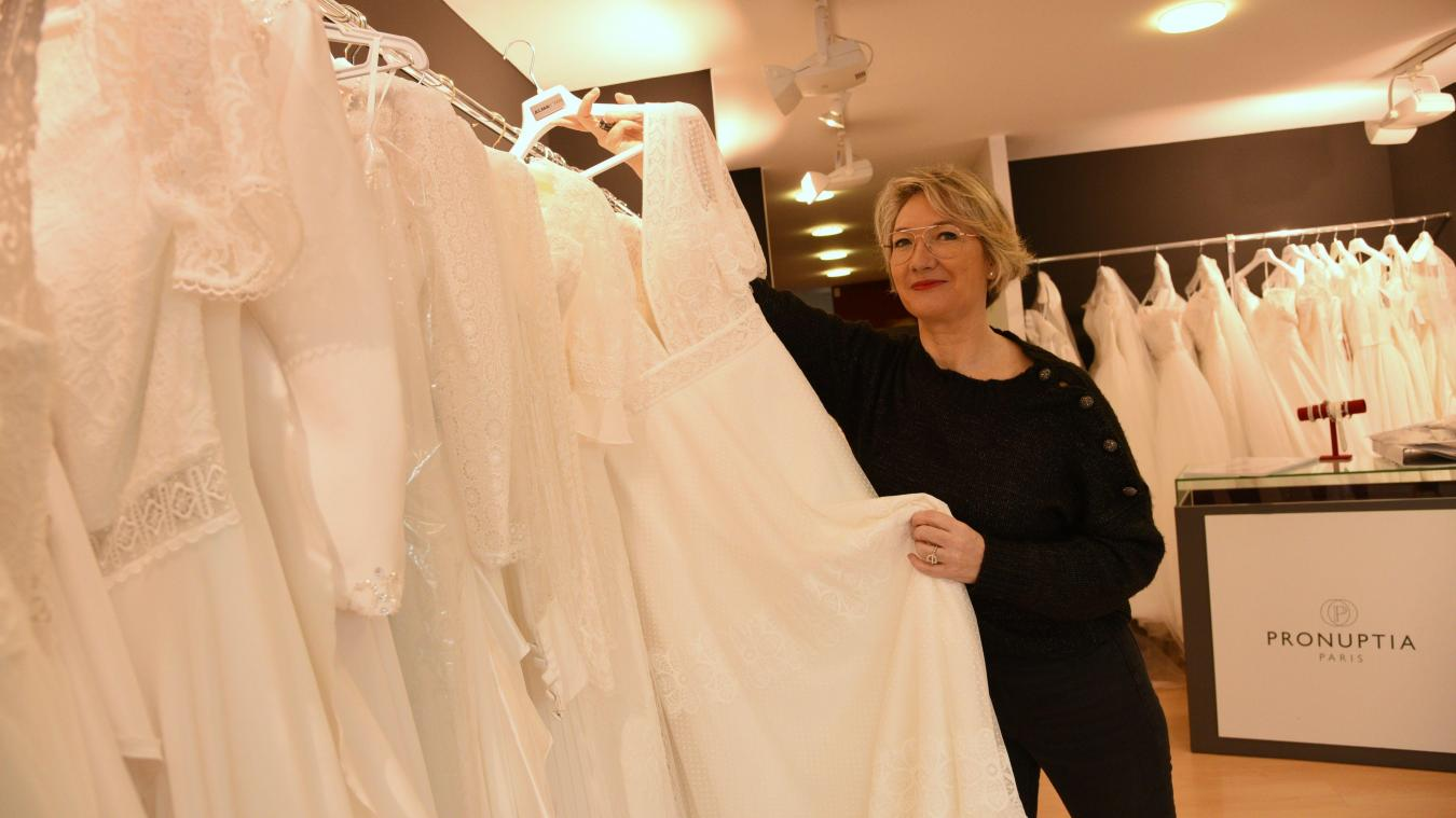 Sandrine Butel tient la boutique, place Dalton, depuis 11 ans.