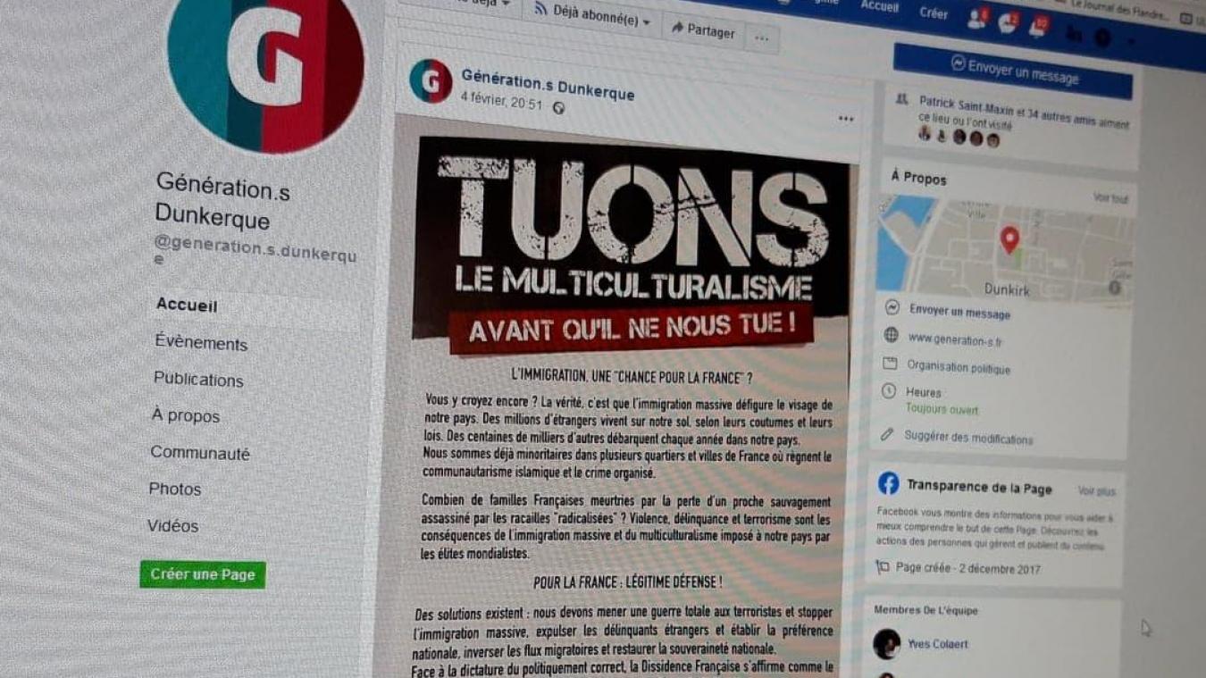 Levée de boucliers contre un tract du groupe Dissidence française.