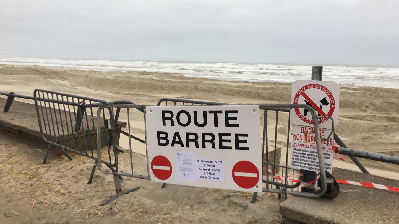 La plage du Touquet est interdite au public depuis ce dimanche 9 février 6h et ce jusqu'au mardi 11 minuit.