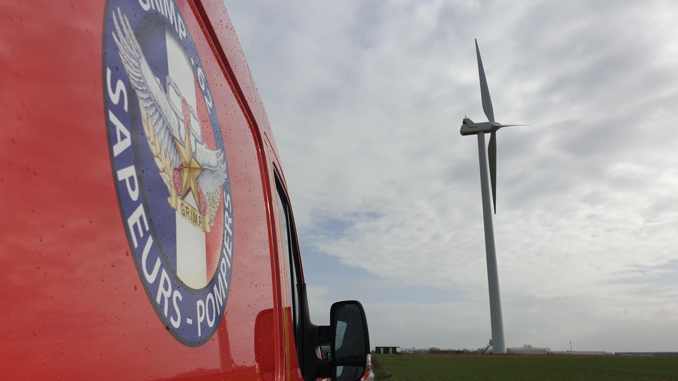 Arrageois: Un élément de l'éolienne de Wancourt menace de se décrocher
