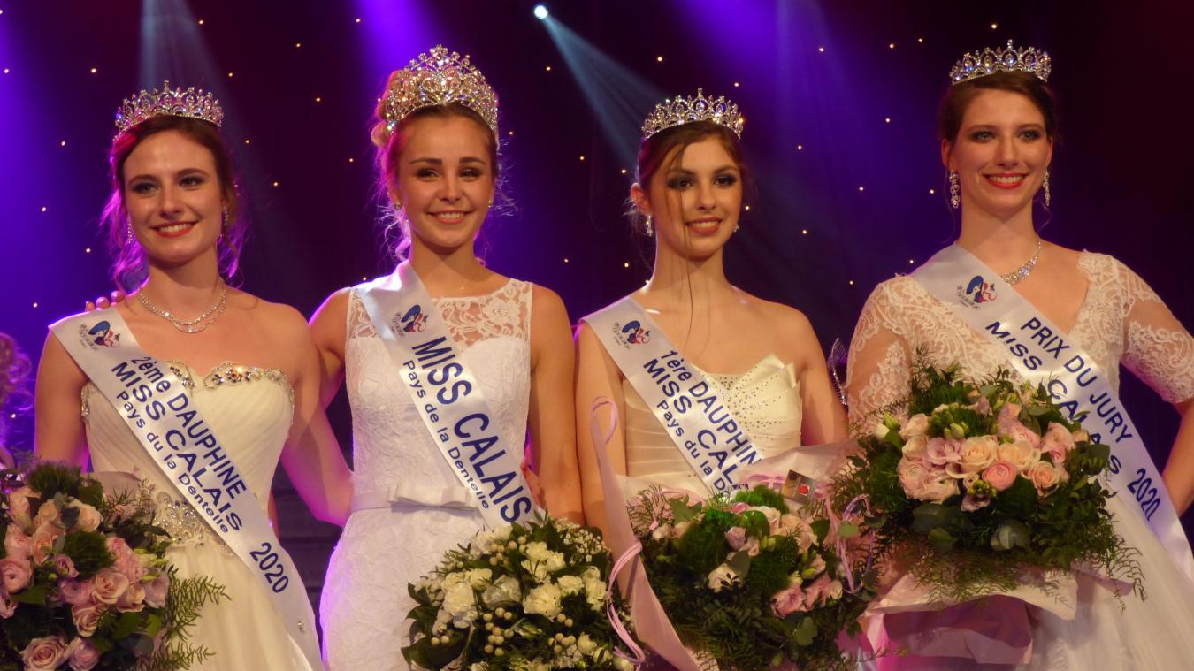 Les quatre Miss élues ce samedi soir.