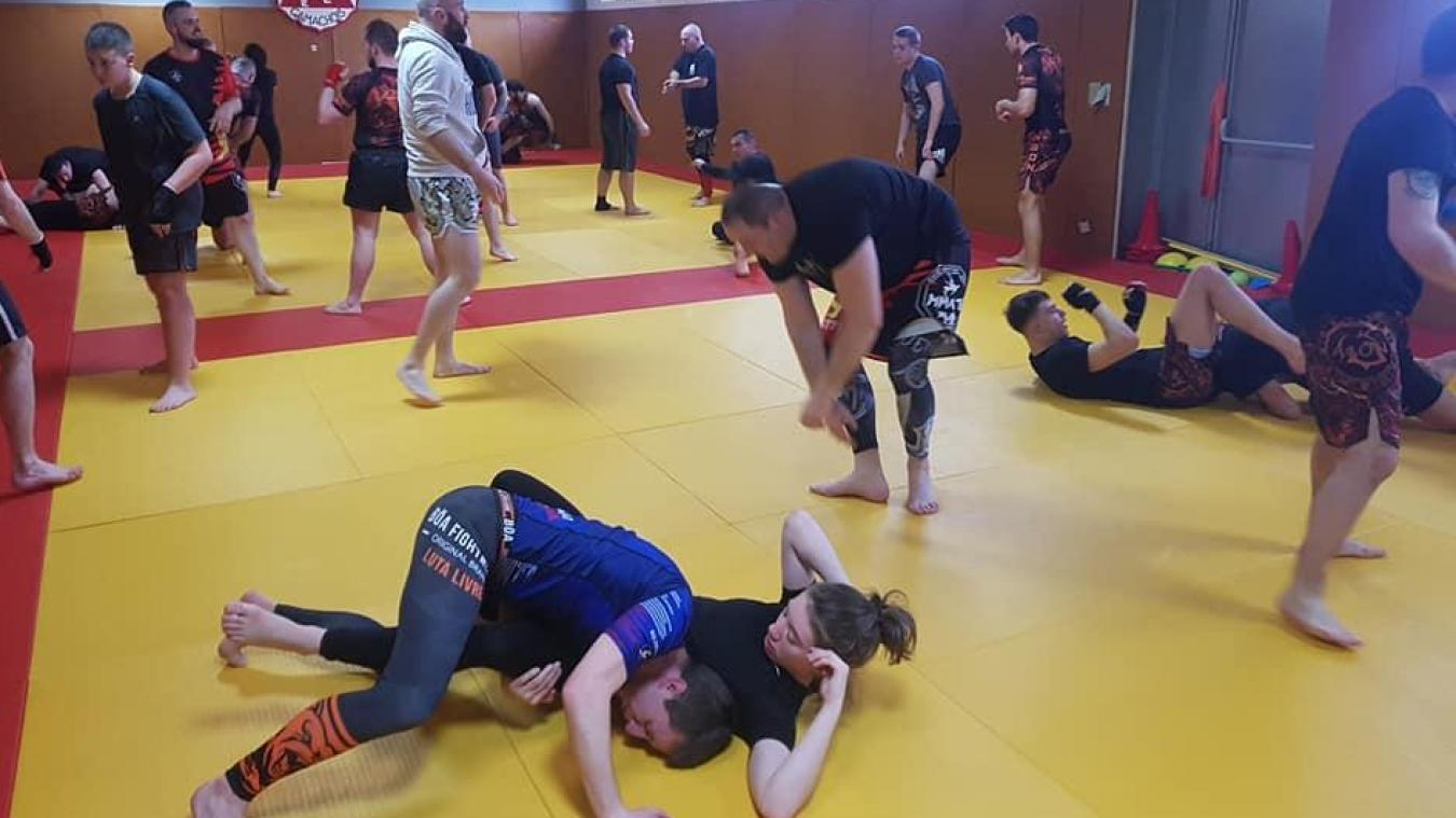 Christophe Dubois (président du Team BDT Kick Boxing de Merlimont) organise déjà des stages de Mixed Martial Art.