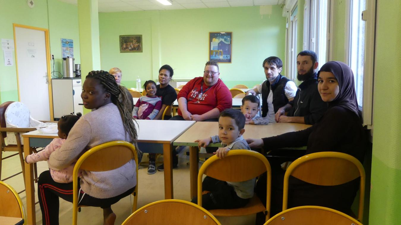 Une trentaine de personnes, dont 10 enfants, logent à l'EPSM de Saint-Venant jusqu'au 31 mars prochain.