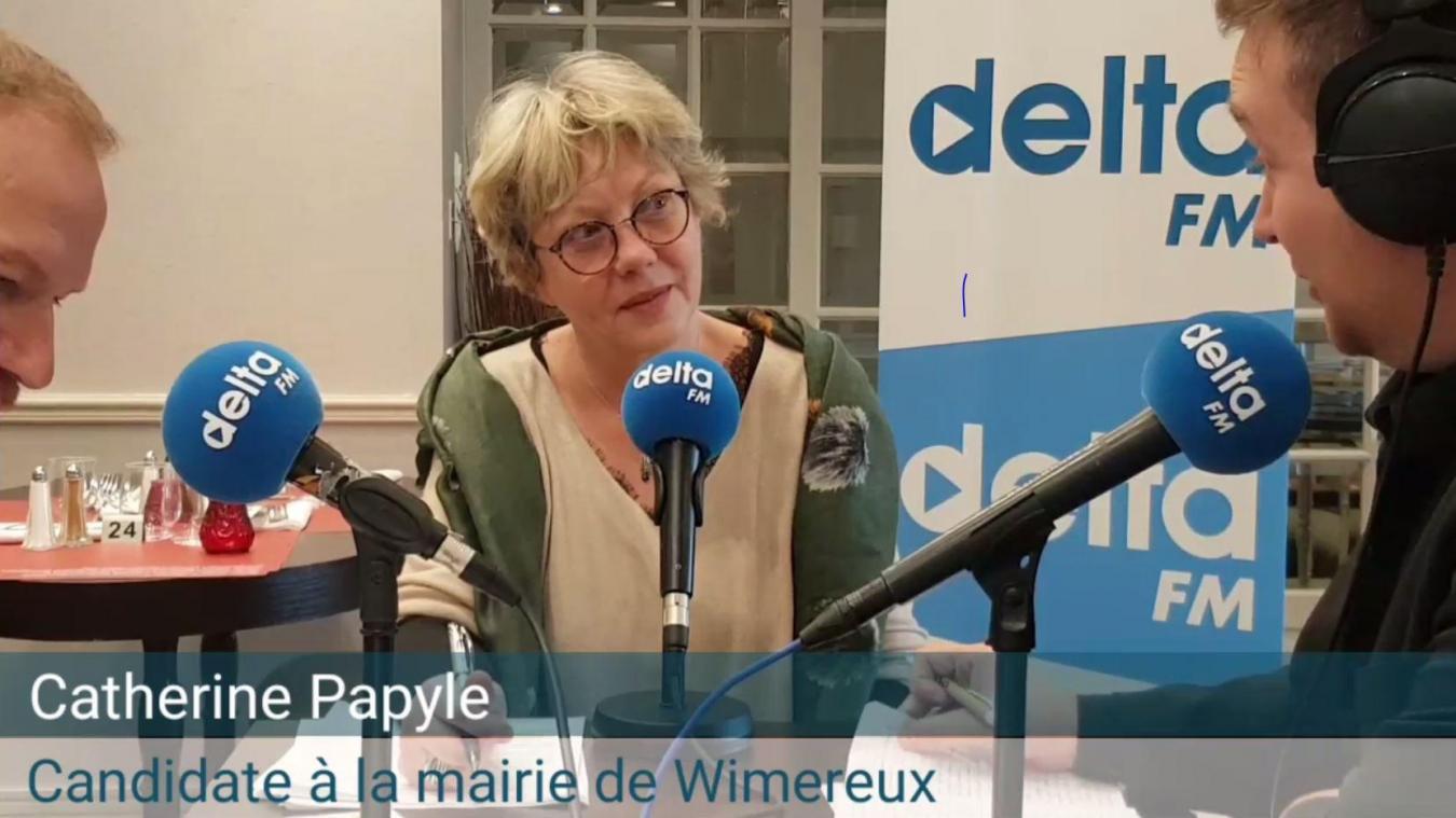 Catherine Papyle à la tête de la liste Wimereux Initiatives Citoyennes.