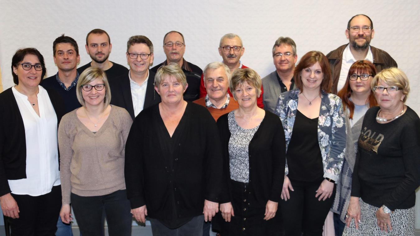 L'équipe est composée de deux conseillers sortants et de 13 nouveaux visages.