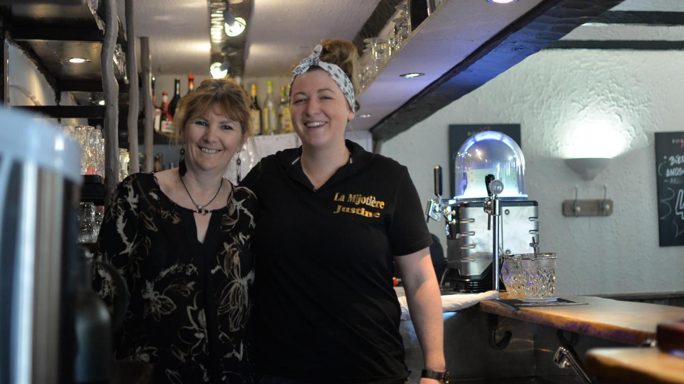 Justine et Evelyne Carlier ont ouvert leur restaurant il y a un peu plus d'une semaine.