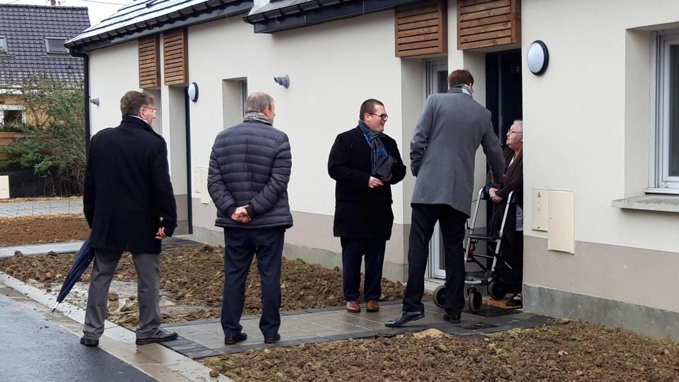 Lors de l'inauguration, les participants ont eu la possibilité de visiter un des logements du béguinage.