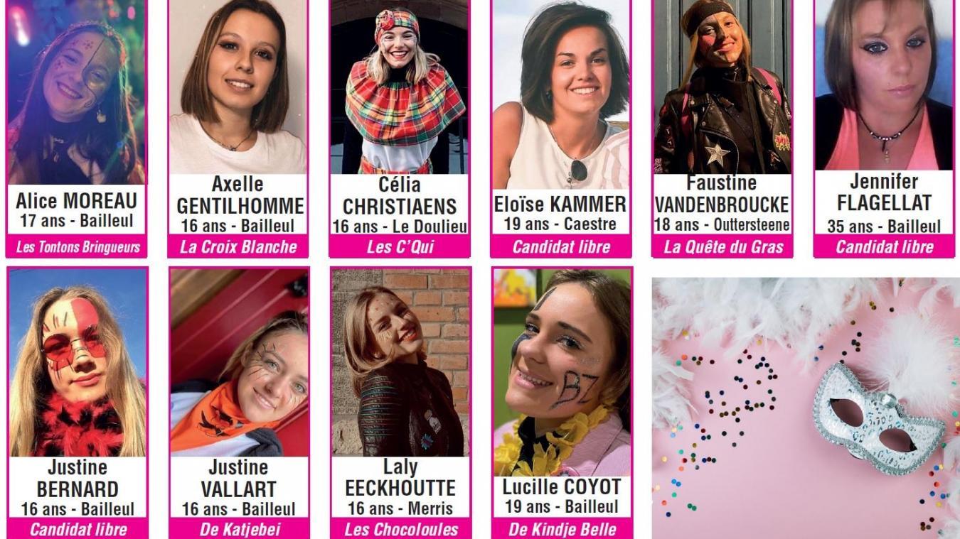 Cette année, elles sont dix à se présenter au titre de reine du carnaval 2020.