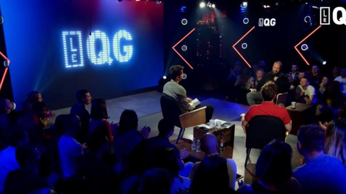 Les jeunes de Ferques sur le plateau de l'émission Le QG