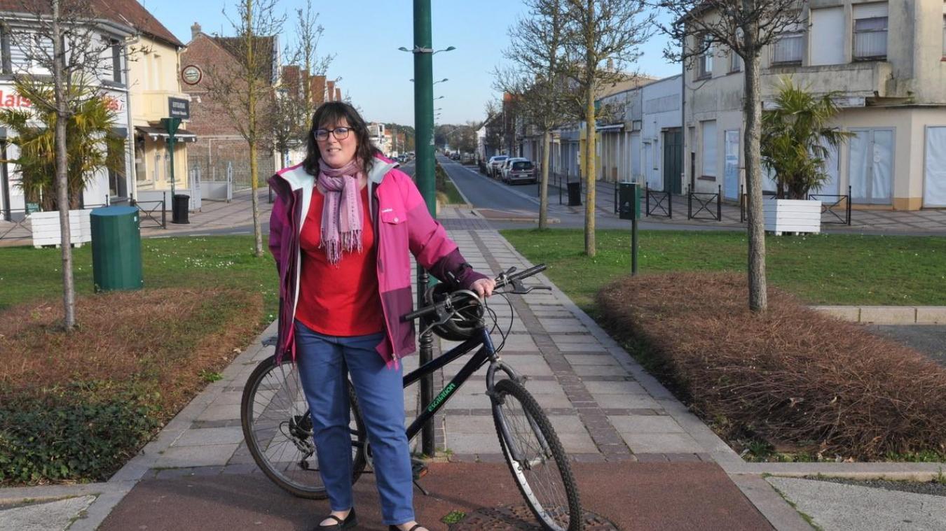À vélo avec Laurence Lefebvre, candidate à Cucq