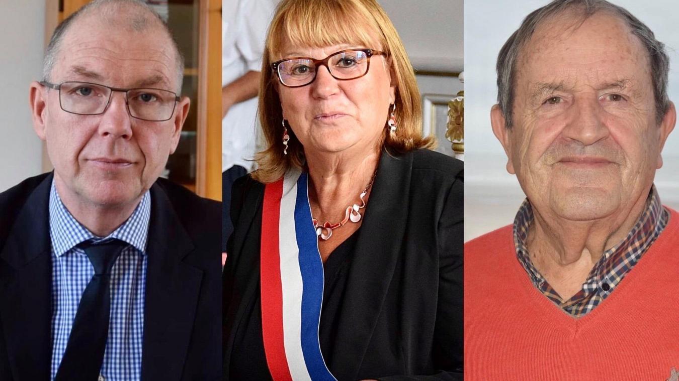 Benoît Dolle, Marie-Claude Lagache et Fernand Duchaussoy.