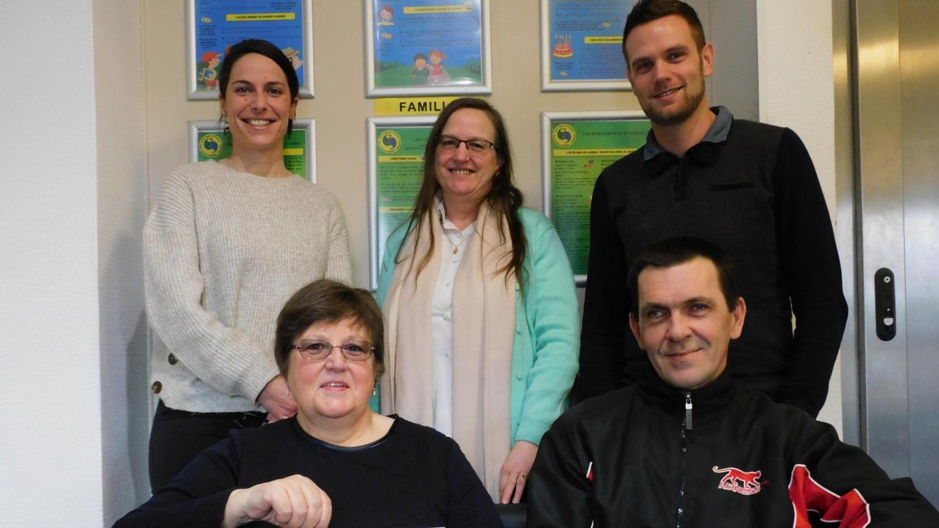 Marie-France, Cathy, Christophe et Jérémy, tous partants pour accompagner le projet de Kelly.