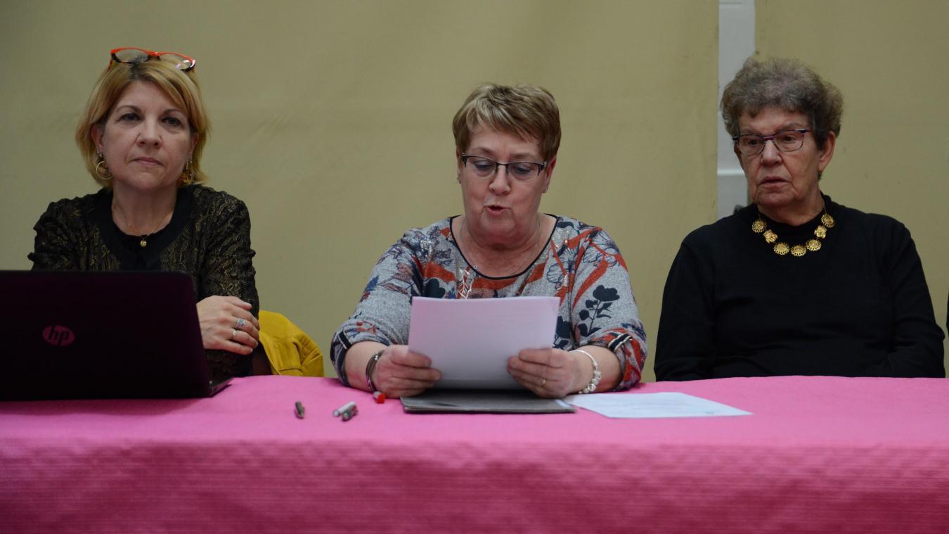 Éveline Kyndt (au centre) a pris la présidence de l'association il y a un an.