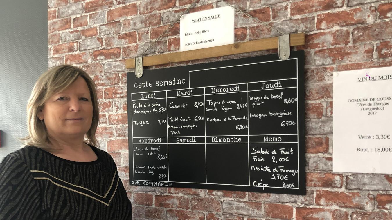 Depuis le 22 janvier, Nadine Engloo est à la tête de Belle à Table, rue de la Gare.