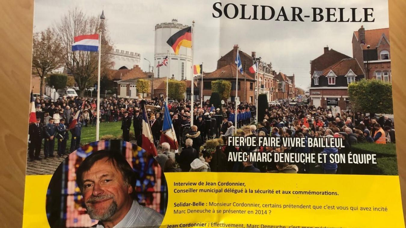 Bailleul : Jean Cordonnier interviewé à son insu?