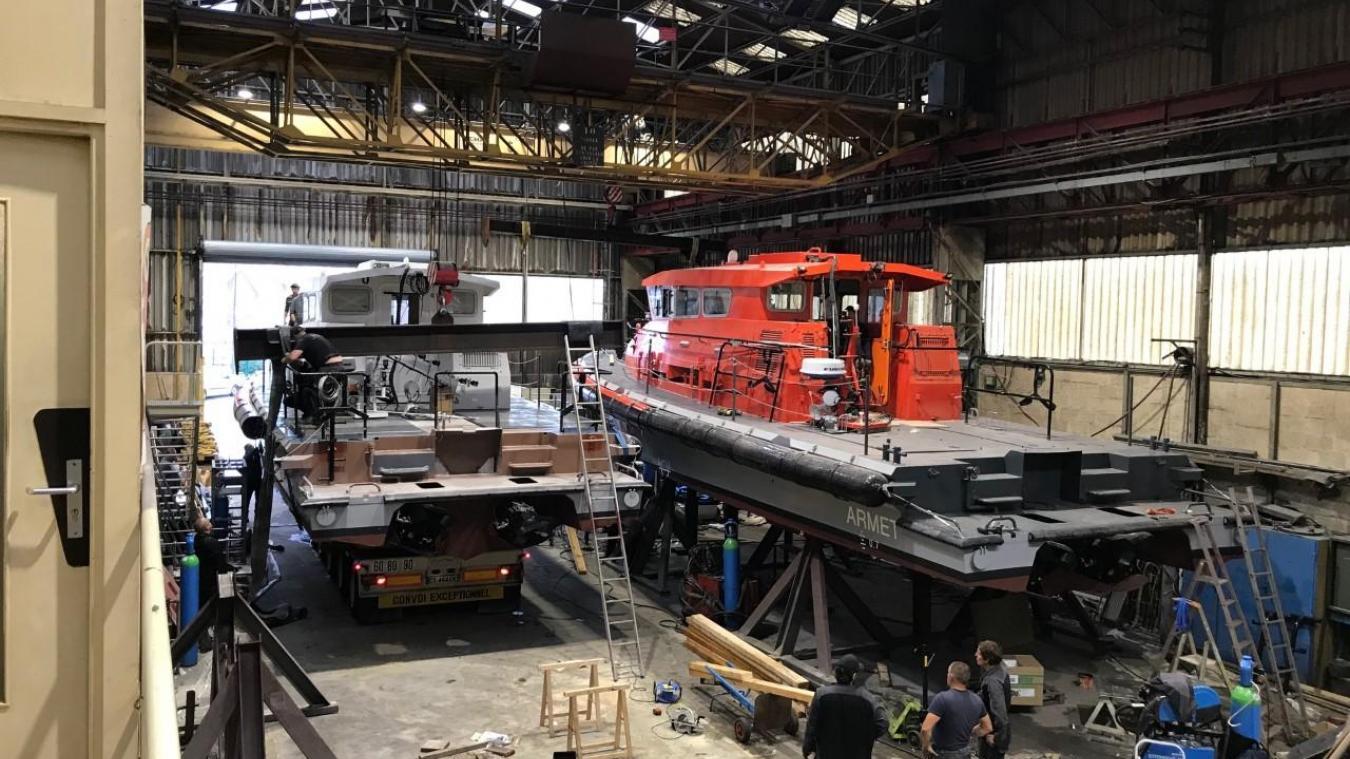 La Socarenam a récemment réalisé la vedette de surveillance maritime et portuaire Armet, qui sera livrée à Saint-Nazaire, et une vedette pour l'entraînement à l'hélitreuillage à Hyères.