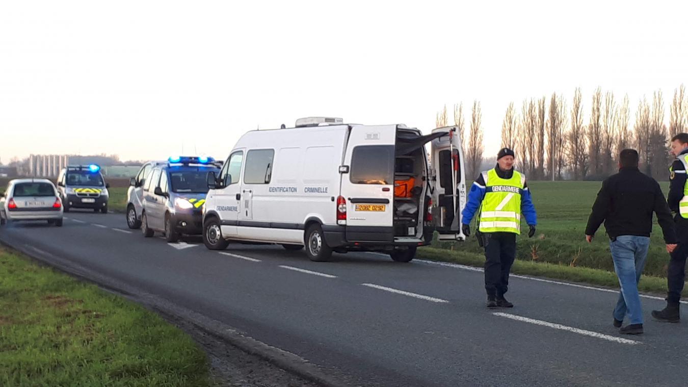 Le corps de Matthieu Breugghe avait été découvert le mardi 4 décembre 2018, sur la D17, entre Wormhout et Herzeele.