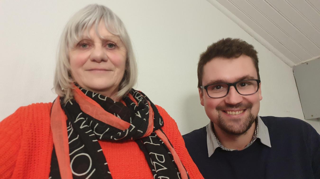 Françoise Defrance, 70 ans, et Mathieu Voisin, 33 ans, un binôme intergénérationnel.