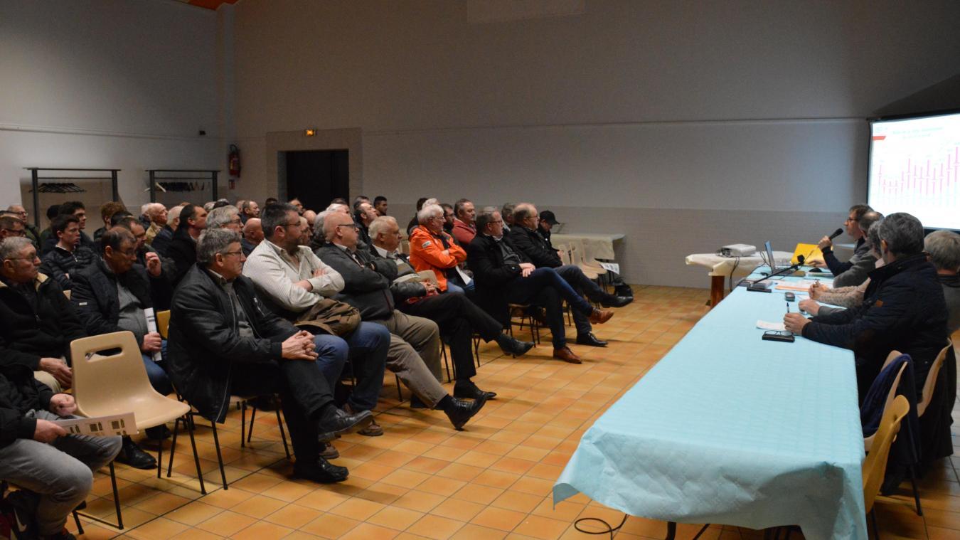 De nombreux piégeurs et quelques maires avaient fait le déplacement à Nouvelle-Eglise pour la réunion du GIDON.