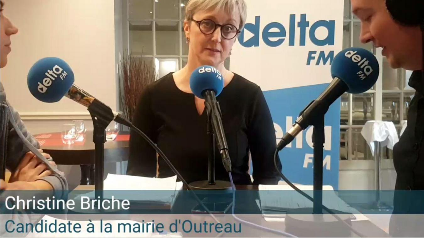 Christine Briche, candidate à Outreau.