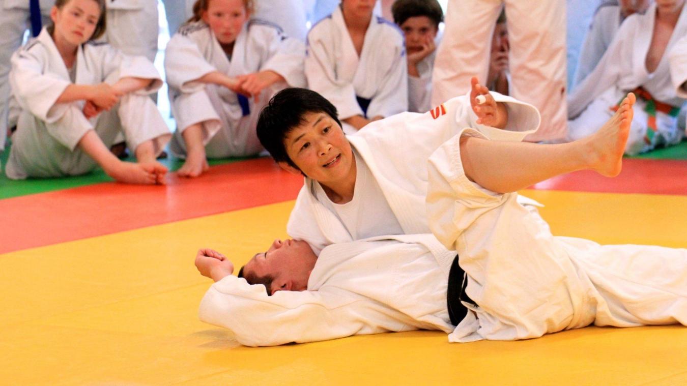 Hikari Sasaki, médaillée d'or aux Jeux olympiques de Séoul en 1988, vient pour la première fois dans le Pas-de-Calais.