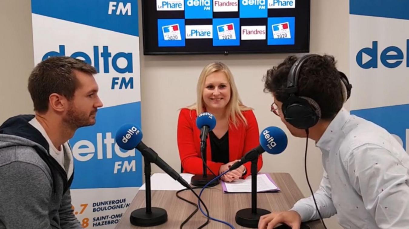 Virginie Varlet répond aux questions des journalistes du Phare dunkerquois et de Delta FM sur ses projets pour la ville de Saint-Pol-sur-Mer.