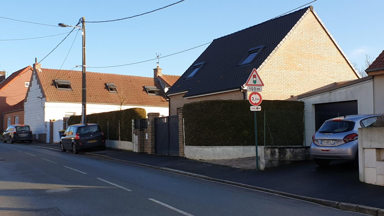 Les faits se sont produits rue Pasteur à Dainville.