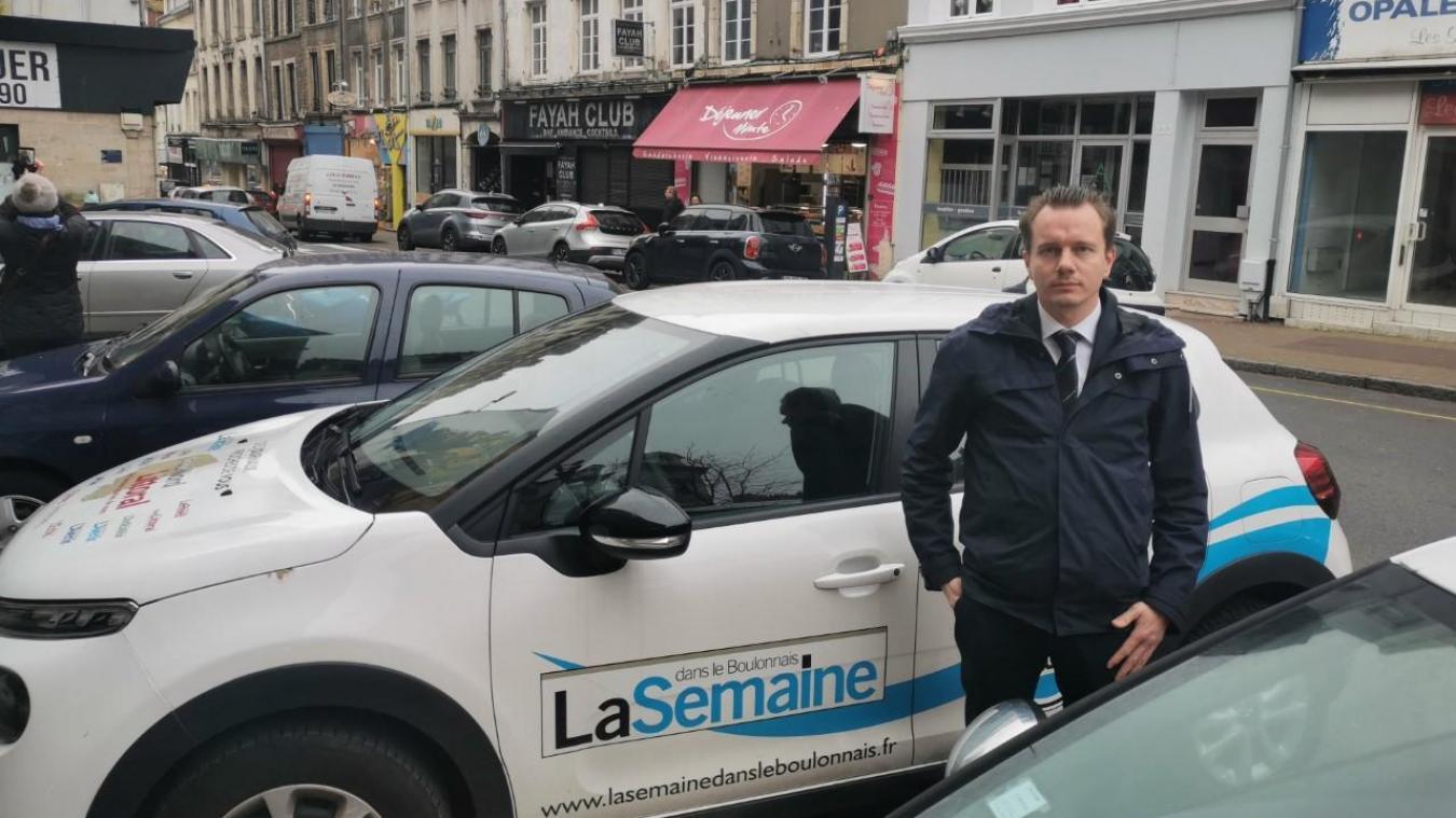 Antoine Golliot a beaucoup évoqué le centre-ville lors de notre promenade samedi matin 22 février.