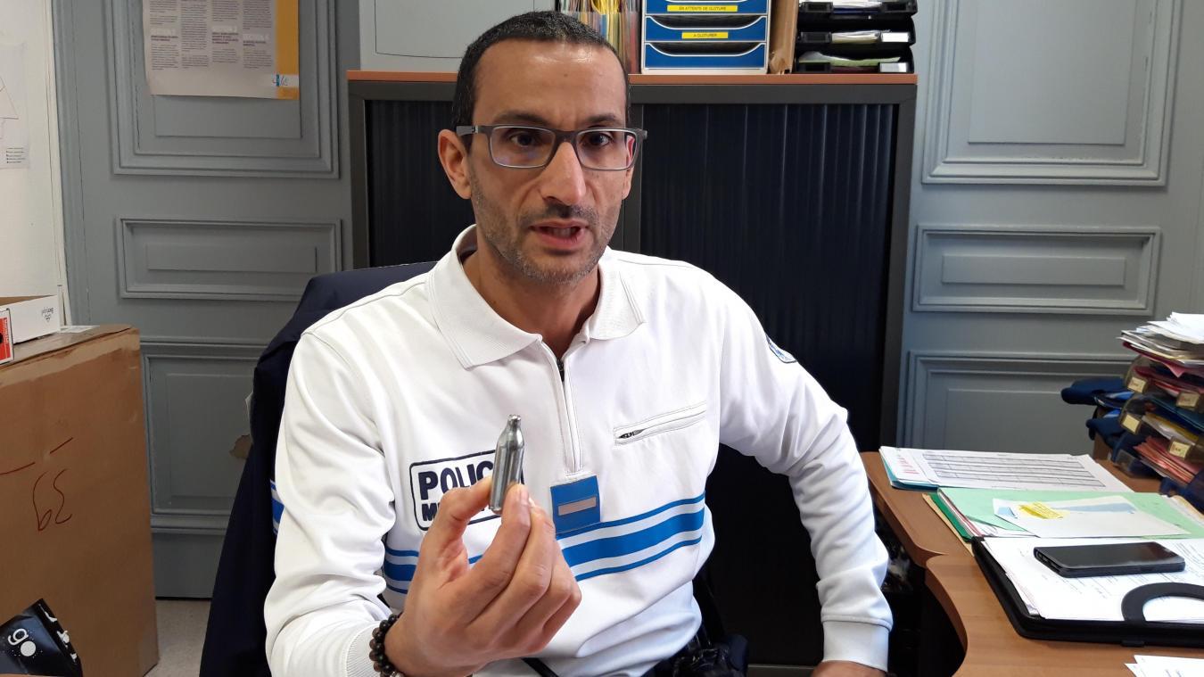 Le chef de la police municipale tire un premier bilan de ses interventions de prévention dans les collèges après l'arrêté contre la vente et l'offre de gaz hilarant.
