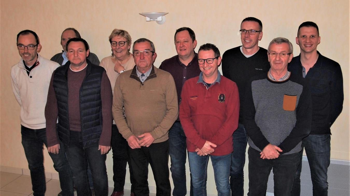 Une partie de l'équipe de François Le Gall, lors de la présentation du programme 2020-2026.