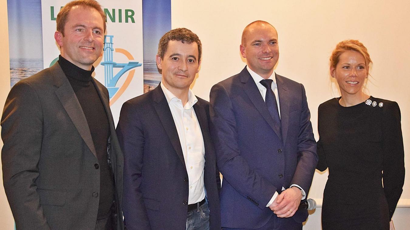 Thibault Guilluy, Gérald Darmanin, Olivier Lebreuilly et Tiphaine Auzière.