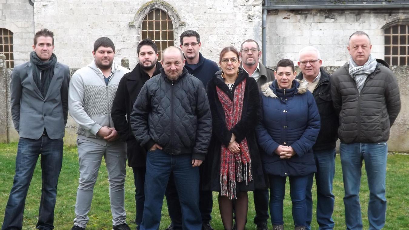 Nicolas Justin (à droite sur la photo) a présidé le comité des fêtes du village pendant quatre ans.